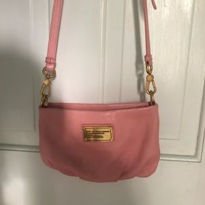 Marc Jacobs Light Pink Leather Crossbody Bag